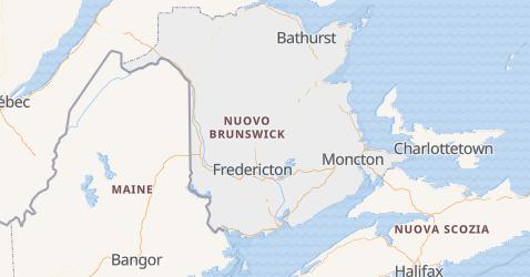 Mappa di Nuovo Brunswick