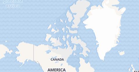 Mappa di Nunavut