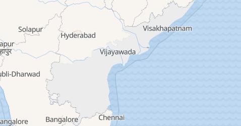 Mappa di Andhra Pradesh