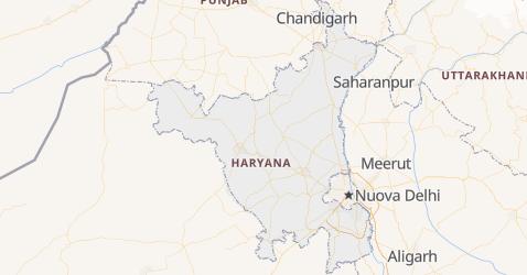 Mappa di Haryana