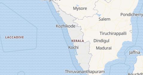 Mappa di Kerala