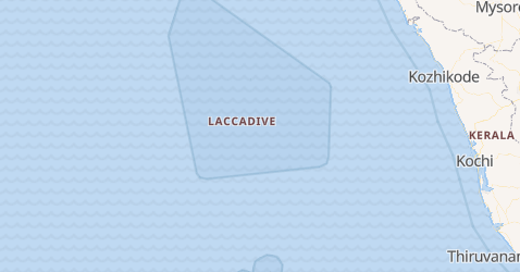 Mappa di Laccadive