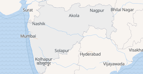 Mappa di Maharashtra