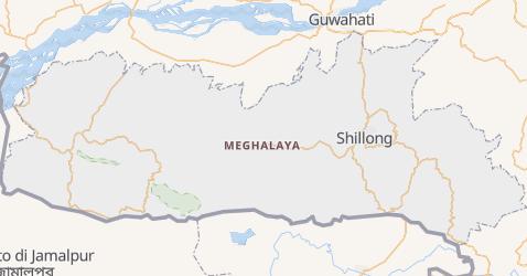 Mappa di Meghalaya