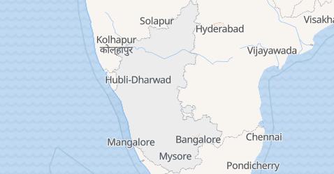 Mappa di Karnataka