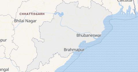 Mappa di Orissa