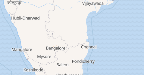 Mappa di Pondicherry