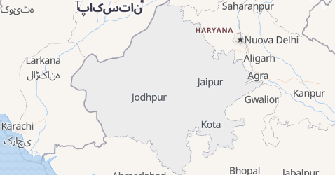 Mappa di Rajasthan