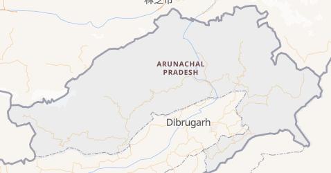 Mappa di Arunachal Pradesh