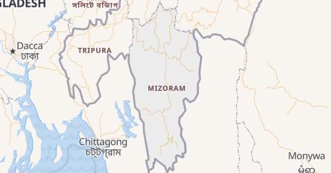 Mappa di Mizoram
