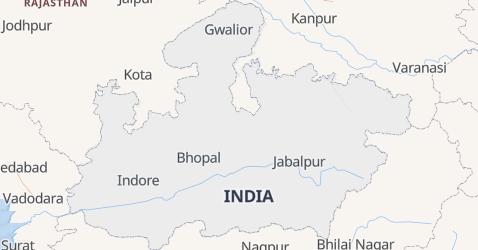 Mappa di Madhya Pradesh