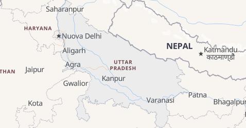 Mappa di Uttar Pradesh