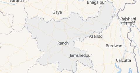 Mappa di Jharkhand