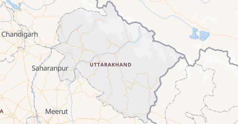 Mappa di Uttarakhand