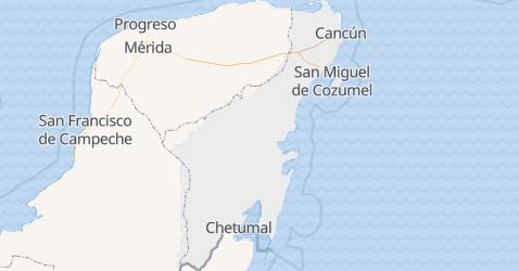 Mappa di Quintana Roo