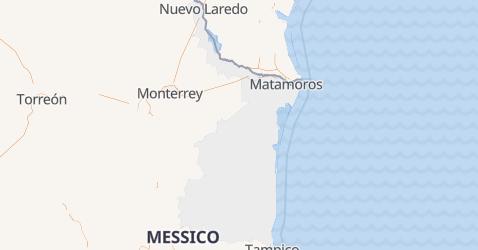 Mappa di Tamaulipas