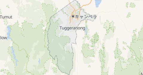 オーストラリア首都特別地域地図