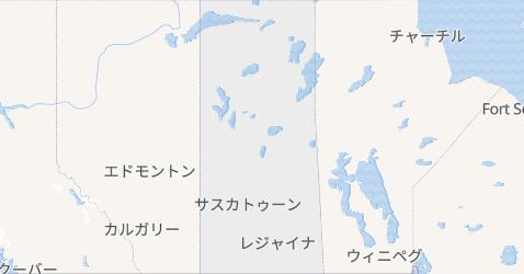 サスカチュワン州地図