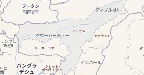 アッサム州地図