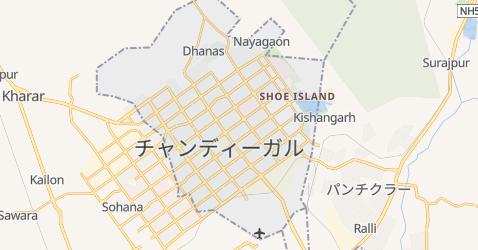 チャンディーガル地図