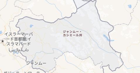 ジャンムー・カシミール州地図