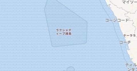 ラクシャディープ諸島地図