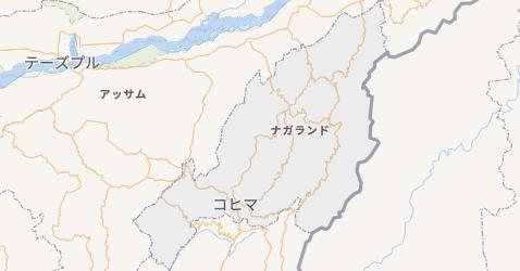 ナガランド州地図