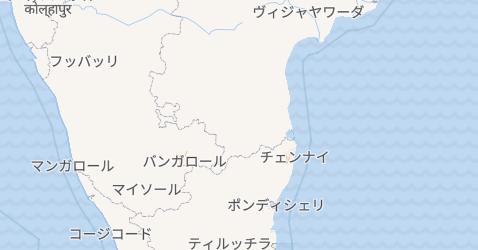 ポンディシェリ連邦直轄領地図