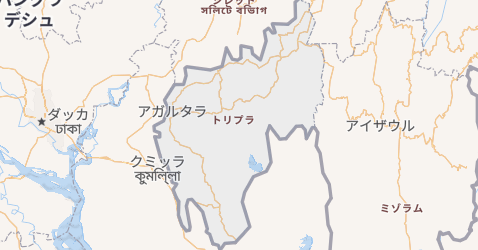 トリプラ州地図