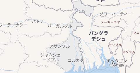 西ベンガル州地図