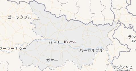 ビハール州地図