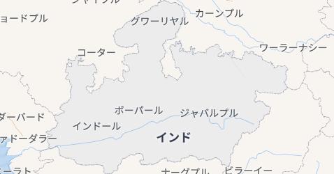 マディヤ・プラデーシュ州地図