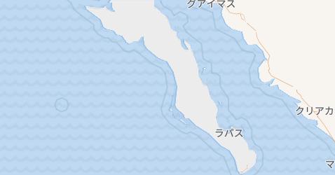 バハ・カリフォルニア・スル州地図