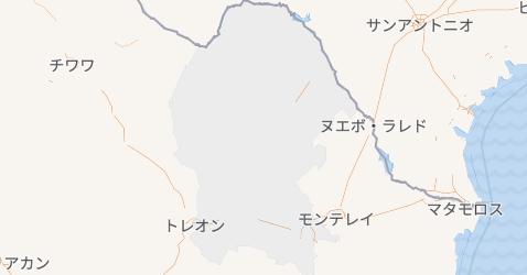コアウイラ州地図