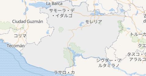 ミチョアカン州地図