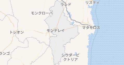 ヌエボ・レオン州地図