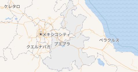 プエブラ州地図