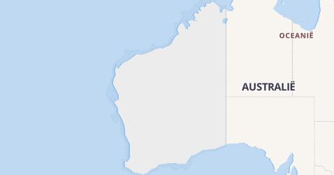 West Australië kaart