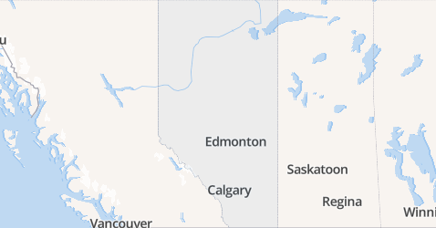 Alberta kaart