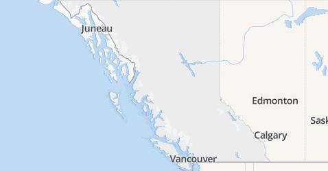 Brits-Columbia kaart