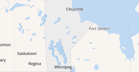 Manitoba kaart
