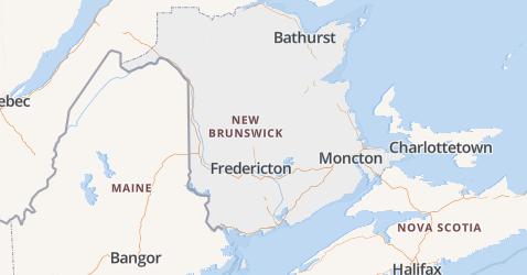 New Brunswick kaart