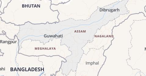 Assam kaart