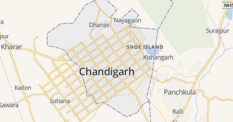 Chandigarh kaart