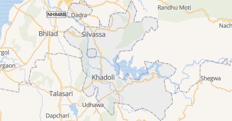 Dadra en Nagar Haveli kaart