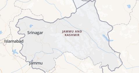 Jammu en Kashmir kaart