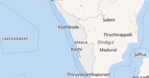Kerala kaart