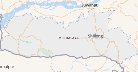 Meghalaya kaart
