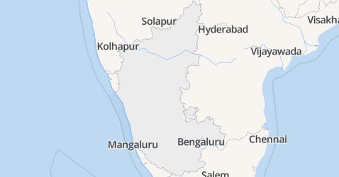 Karnataka kaart