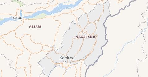 Nagaland kaart
